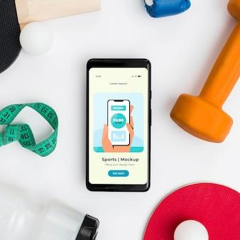 Sprzęt sportowy z telefonem komórkowym