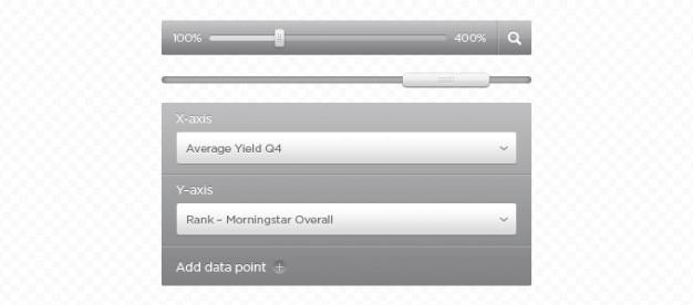 Srebrny i szary elementów interfejsu użytkownika