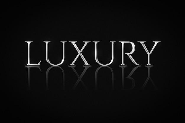 Srebrny luksusowy efekt tekstowy