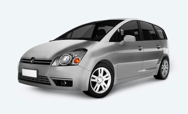 Srebrny minivan