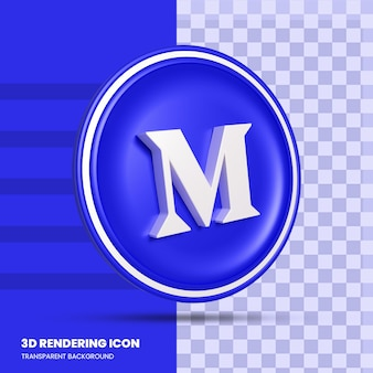 Średnia ikona renderowania 3d w mediach społecznościowych