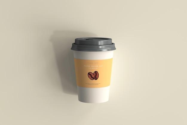 Średniej wielkości papierowa filiżanka kawy makieta