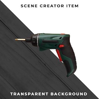 Śrubokręt elektroniczny odizolowywający z ścinek ścieżką.