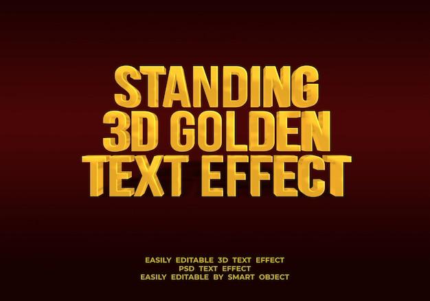 Stały styl złoty efekt tekstu 3d