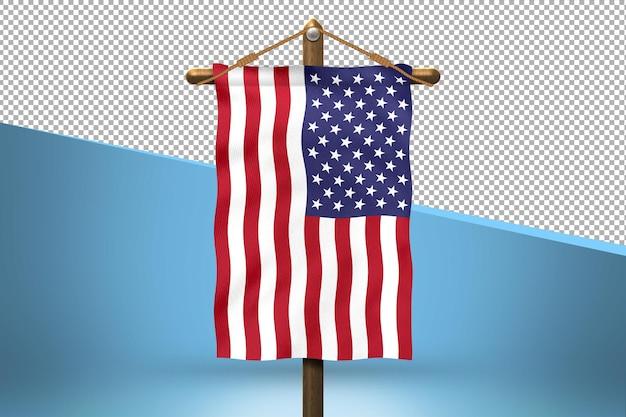 Stany zjednoczone ameryki powiesić tło projektu flagi