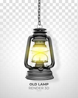 Stara lampa realistyczny render 3d