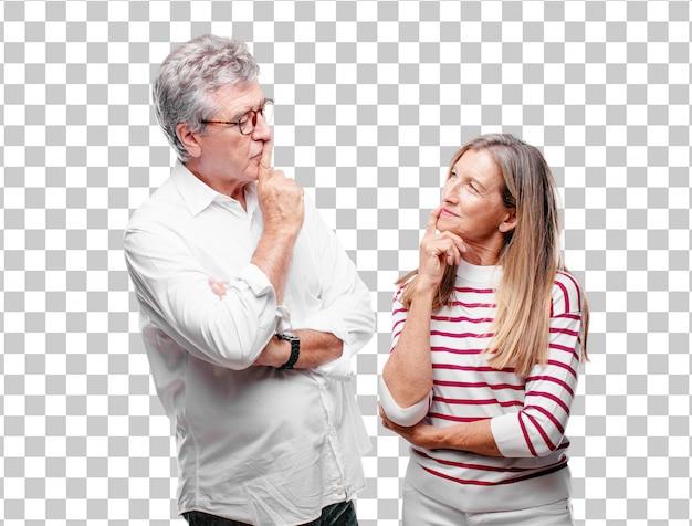 Starszy fajny mąż i żona z dumą