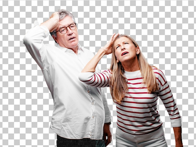 Starszy fajny mąż i żona