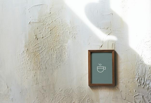 Stary drewniany rama makieta projektu