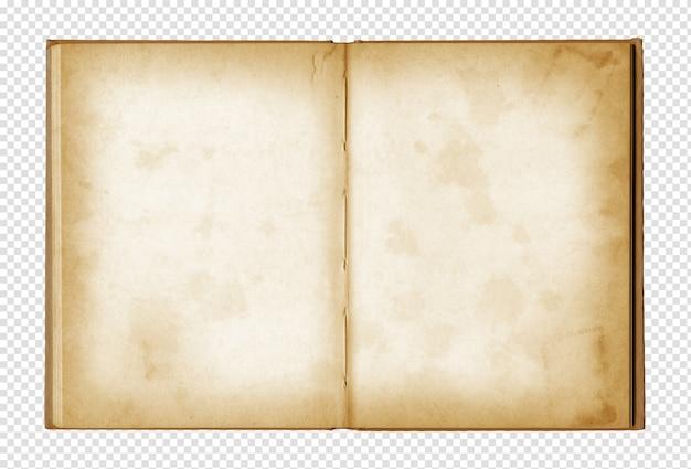 Stary grunge otwarty notatnik