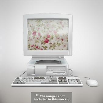 Stary komputer makiety projektowe