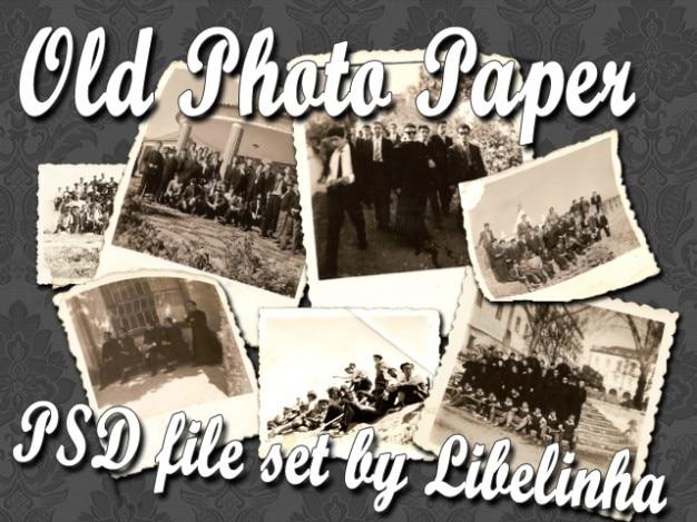 Stary zestaw obraz papier