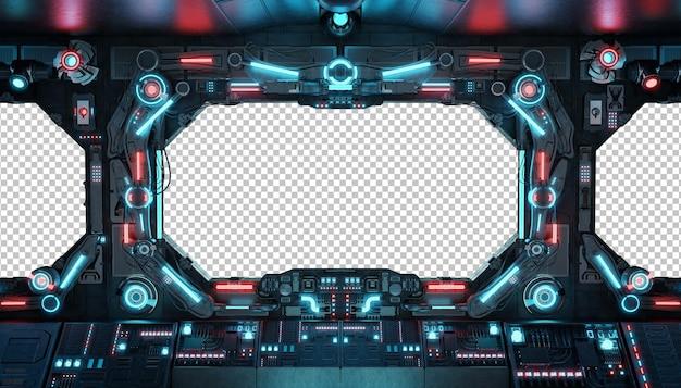 Statek kosmiczny z izolowanym oknem makieta