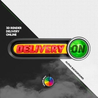 Stempel 3d do kompozycji w mediach społecznościowych sprzedaż fast foodów dostawa online