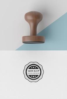 Stempel ręczny z makietą rękojeści