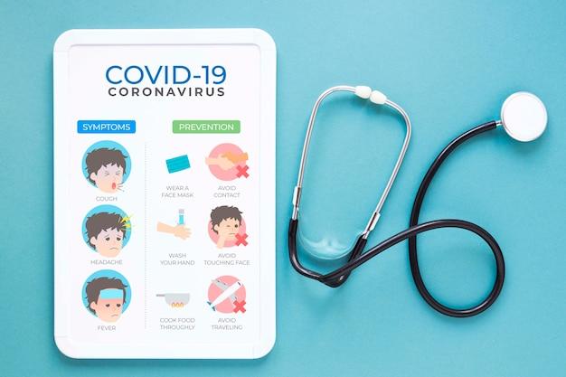 Stetoskop obok tabletu