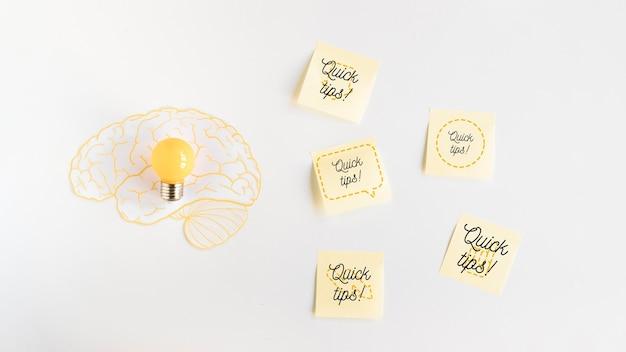 Sticky notes makieta z koncepcją porady