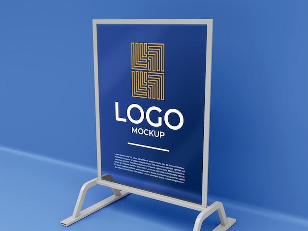 Stoisko wystawcy baner logo makieta 3d render