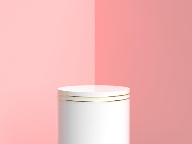 Stojak na produkty w kolorze białym i złotym