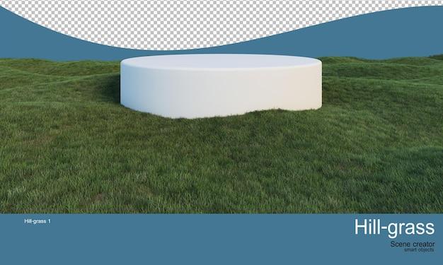 Stojak na środku trawiastego zbocza