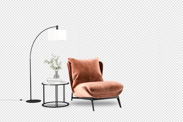 Stół i krzesła w renderowaniu 3d