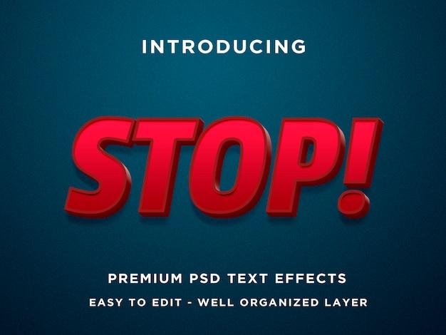 Stop efekt tekstowy 3d