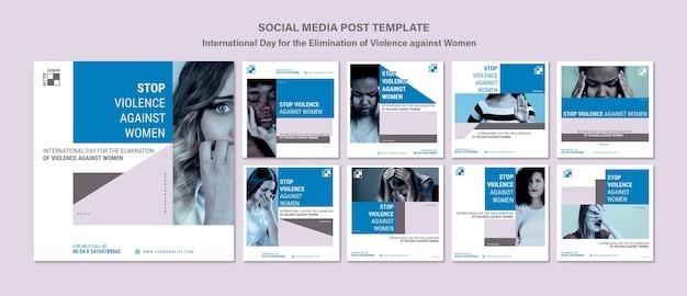 Stop przemocy wobec kobiet posty na instagramie