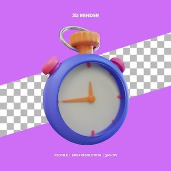 Stoper renderowania ikon 3d do pomiaru czasu