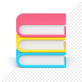 Stos książek 3d ikona