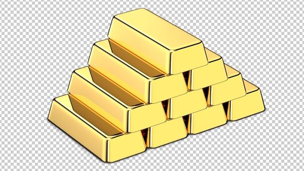 Stos sztabek złota