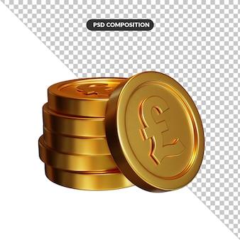 Stos złotych monet funtowych koncepcji bankowości i finansów