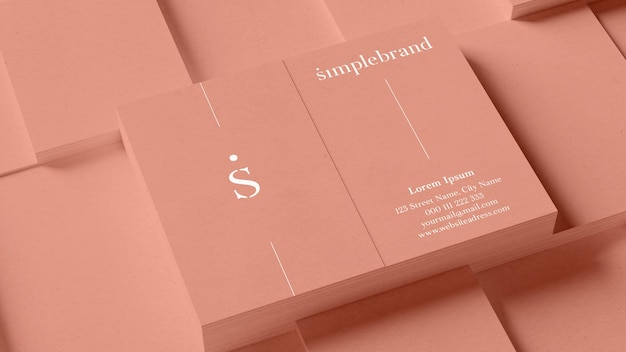 Stosy makiet pionowych wizytówek dla eleganckiego brandingu w renderowaniu 3d