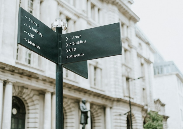 Street post makieta w mieście