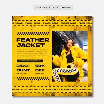 Streetwear fashion sale social media szablon instagram