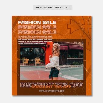 Streetwear fashion sprzedaż promocja social media instagram post banner