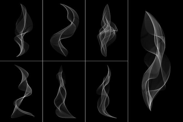 Streszczenie biały dym przezroczysty kształt