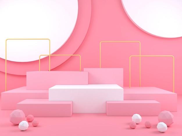 Streszczenie geometryczny kształt pastelowy kolor szablon minimalny nowoczesny styl koncepcja