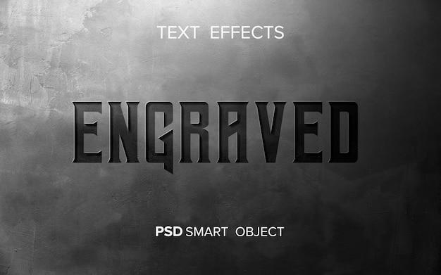 Streszczenie grawerowany efekt tekstowy