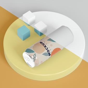 Streszczenie makiety opakowania puszki