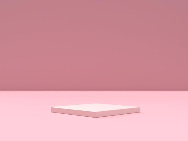 Streszczenie podium kształtu geometrii sceny do wyświetlania produktu