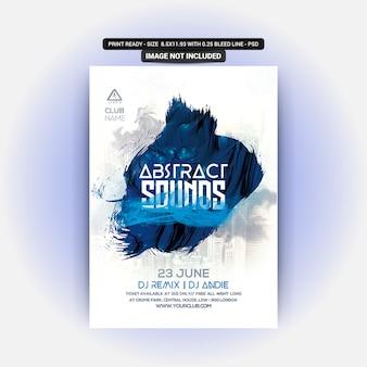 Streszczenie sounds party flyer