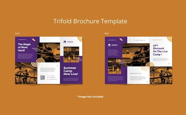 Streszczenie szablon broszury sportowej trifold
