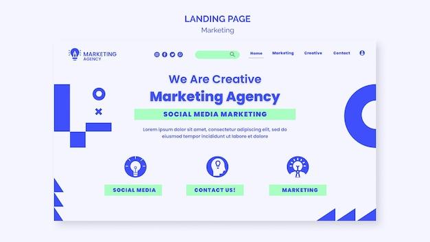 Strona docelowa agencji marketingowej