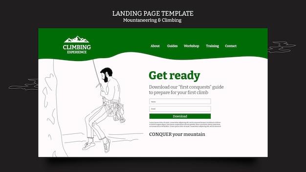 Strona docelowa alpinizmu i wspinaczki