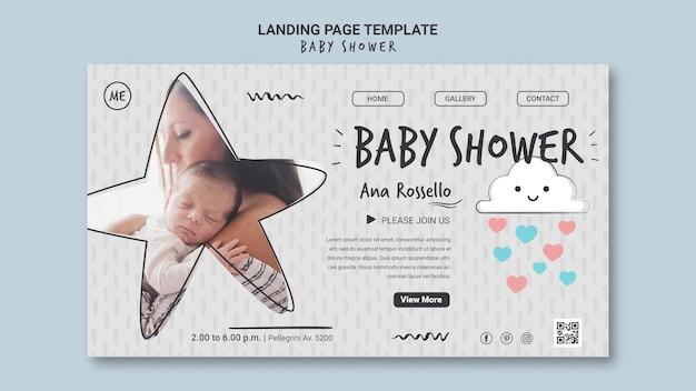 Strona docelowa baby shower