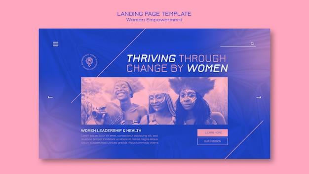 Strona docelowa dotycząca wzmocnienia pozycji kobiet