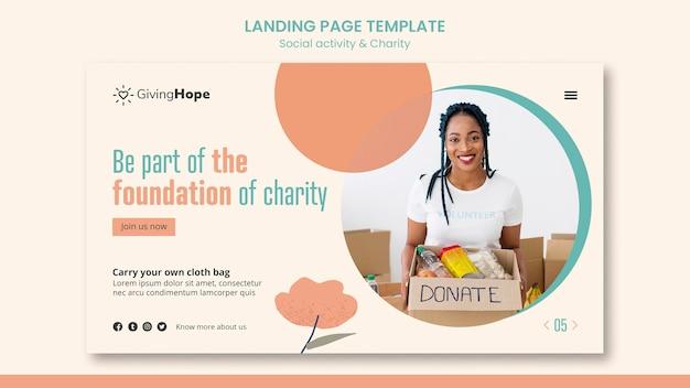 Strona docelowa działalności społecznej i charytatywnej