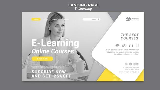 Strona docelowa e-learningu