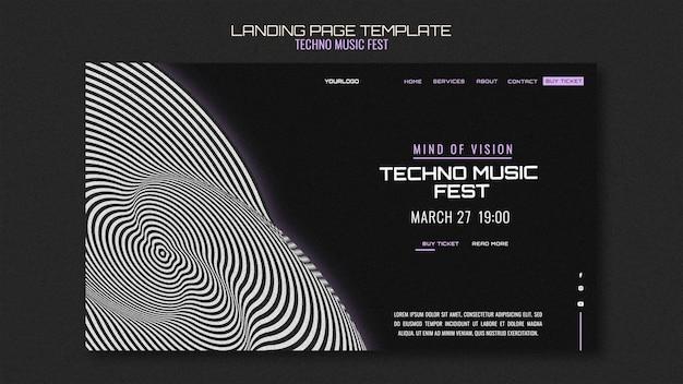 Strona docelowa festiwalu muzyki techno