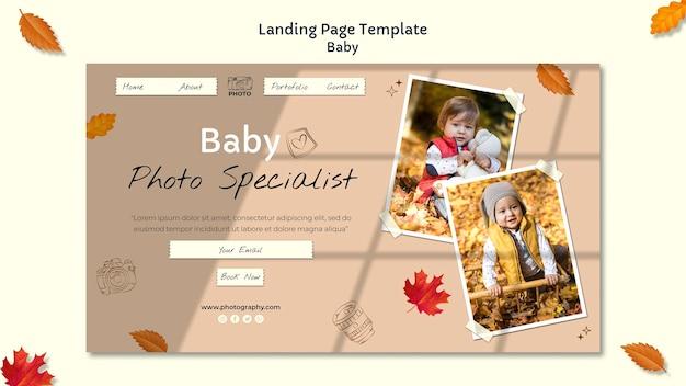 Strona docelowa fotografii dziecka